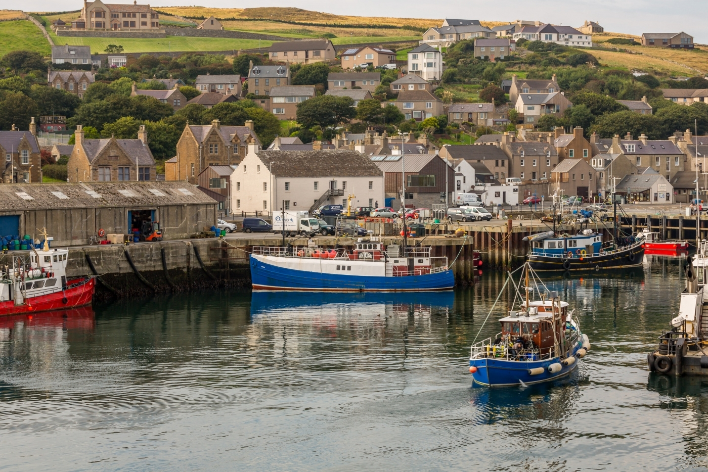 Fishing boats in Stromness Marina