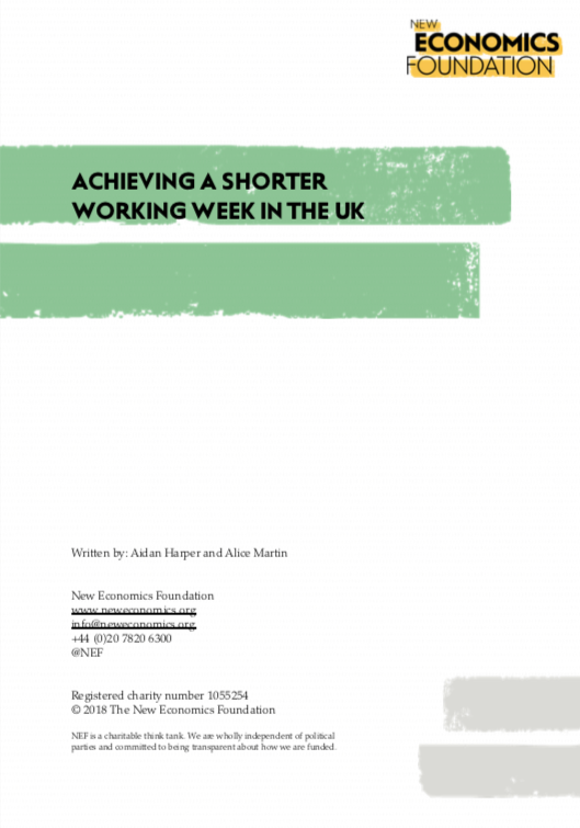 Achieving a shorter working week in the UK