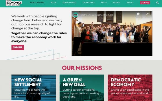 Welcome to NEF's new website