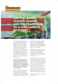 Central banks, climate change and the transition to a low-carbon economy