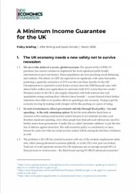 Building a Minimum Income Guarantee for the UK