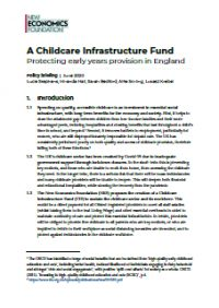 A Childcare Infrastructure Fund