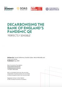 Decarbonising the Bank of England's Pandemic QE