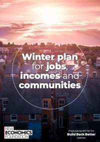 Winter plan for jobs, incomes and communities