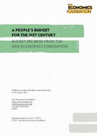 A People's Budget for the 21st century