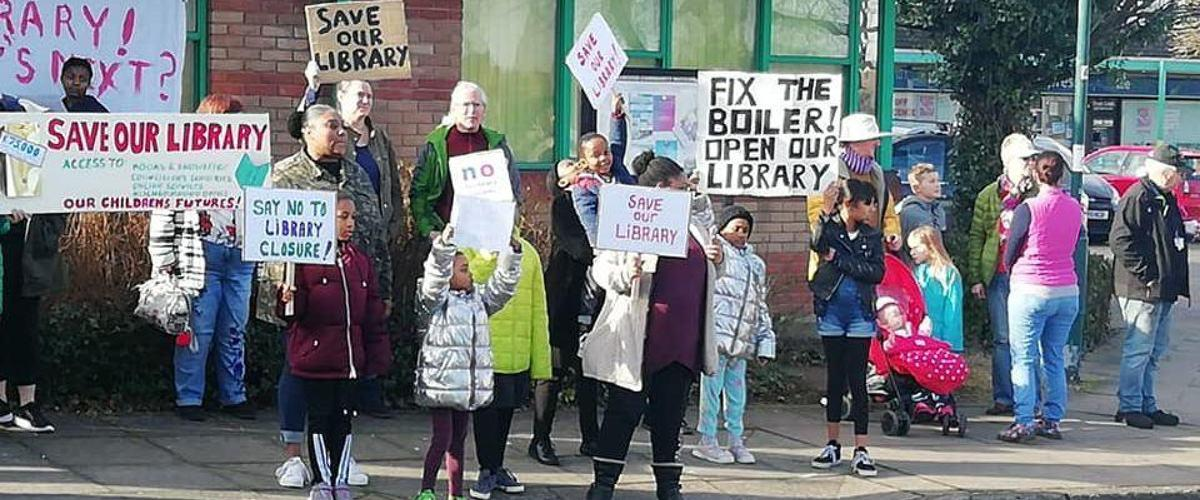 Druids Heath library closure protest